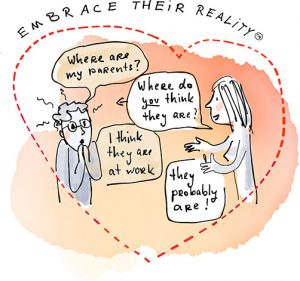Embrace Their Reality Illustration