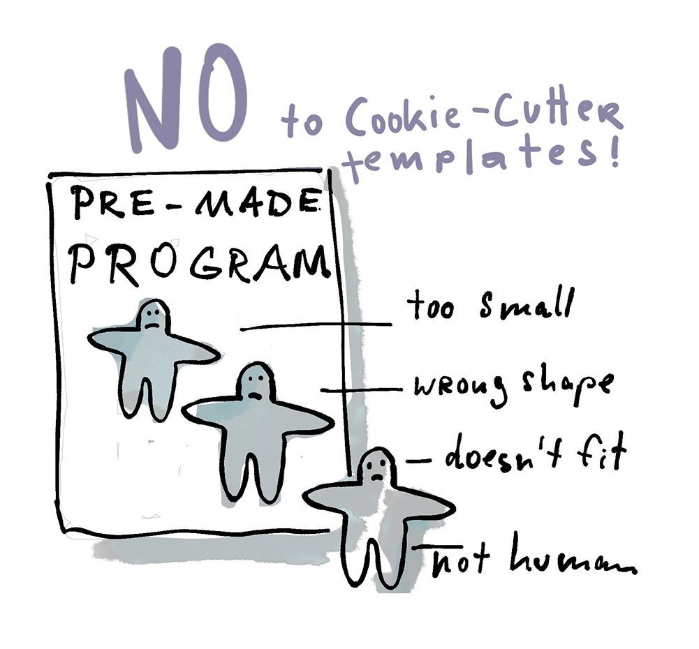 no cookie cutter templates
